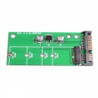 Sata iii 3 to m.2 (ngff) ssd 7+5 pin connector converter adapter card