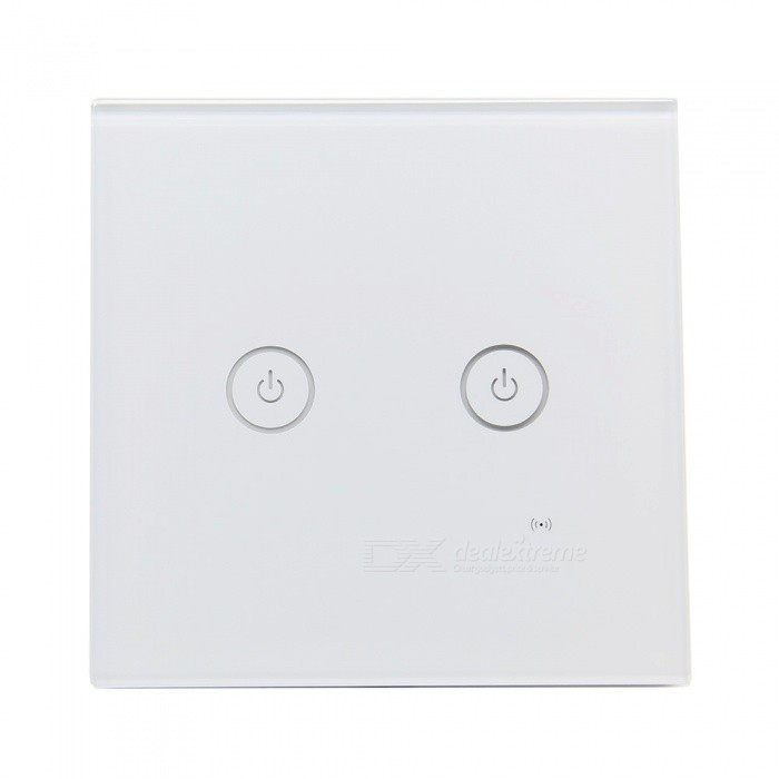 Geekworm AC 85V-250V 2 Gang 1 Way 86 Type WiFi Smart Wall Touch SwitchHome Smart Devices<br>Form  Color2 GangModel2 GangQuantity1 DX.PCM.Model.AttributeModel.UnitMaterialFlame retardant materials + tempered glassPower1000 DX.PCM.Model.AttributeModel.UnitRate VoltageAC85-250V, 50 / 60hzPacking List1 x Smart Wall Switch<br>