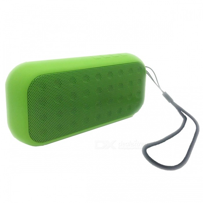 Mini Portable Rechargeable Stereo Bluetooth Wireless Speaker - GreenBluetooth Speakers<br>Form  ColorGreenModelSW17090125MaterialRubber oil + MetalQuantity1 DX.PCM.Model.AttributeModel.UnitShade Of ColorGreenBluetooth HandsfreeYesBluetooth ChipJLBluetooth VersionOthers,Bluetooth V2.1+EDROperating Range10mTotal Power5 DX.PCM.Model.AttributeModel.UnitChannels1.0Interface3.5mmMicrophoneYesSNR90dBFrequency Response280HZ-16KHZApplicable ProductsIPHONE 5,IPHONE 4,IPHONE 4S,IPHONE 3G,IPHONE 3GS,IPOD,IPAD,Universal,Cellphone,MP3,PDA,MP4,Tablet PC,Others,IPHONE 5S,IPHONE 5C,Device with bluetooth ,TF card, USB Flash Disk,3.5mm auxRadio TunerYesSupports Card TypeMicroSD (TF)Built-in Battery Capacity 400 DX.PCM.Model.AttributeModel.UnitBattery TypeLi-ion batteryTalk Time4-6 DX.PCM.Model.AttributeModel.UnitStandby Time180 DX.PCM.Model.AttributeModel.UnitMusic Play Time6-8 DX.PCM.Model.AttributeModel.UnitPower AdapterUSBPower Supply5VPacking List1 x Portable Bluetooth Speaker1 x Micro USB Charging Cable1 x 3.5mm Audio Cable1 x Manual<br>