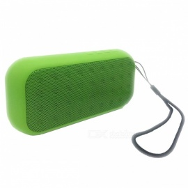 Mini Portable Rechargeable Stereo Bluetooth Wireless Speaker - Green