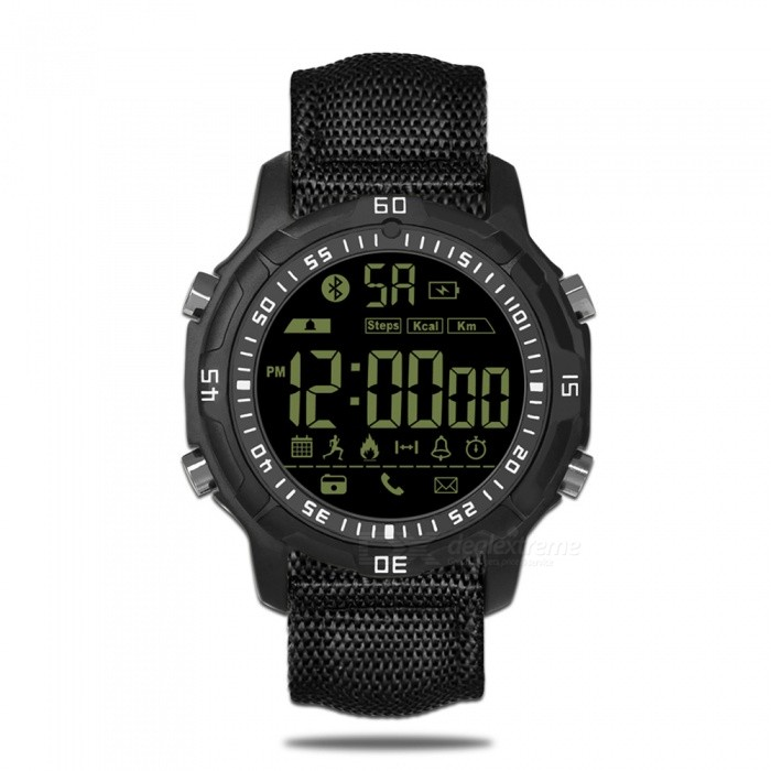 Zeblaze VIBE 2 Sports Hiking 5ATM Waterproof Smart Watch - BlackSmart Watches<br>Form  ColorBlackModelVIBE2Quantity1 DX.PCM.Model.AttributeModel.UnitMaterialAluminum zinc alloy ZA-8Shade Of ColorBlackCPU ProcessorNOScreen Size1.1 DX.PCM.Model.AttributeModel.UnitScreen ResolutionNOBluetooth VersionBluetooth V4.0Operating SystemAndroid 4.4,iOSCompatible OSAndroid, iOSLanguageEnglishWristband Length15 DX.PCM.Model.AttributeModel.UnitWater-proofIP67Battery ModeNon-removableBattery TypeCR2032 batteryBattery Capacity290 DX.PCM.Model.AttributeModel.UnitStandby Time540 DX.PCM.Model.AttributeModel.UnitPacking List1 x Zebalze Vibe2 Sport Smart Watch, 1 x Box 1 x User Manual (English)<br>