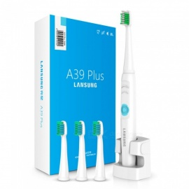 LANSUNG A39Plus Sonic Electric Toothbrush med 4st Heads-blå (EU)