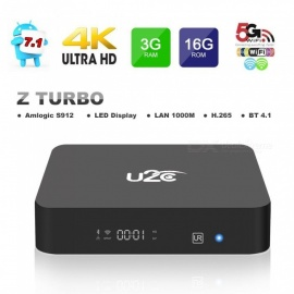 Android 7.1 TV Box KUD Z Turbo Amlogic S912 3GB RAM 16GB ROM - US Plug