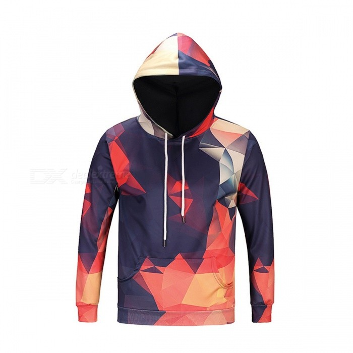 Geometry 3D Unisex Sweatshirt Hoodies with Hat - Multi-Color (XXXL)Hoodies &amp; Sweatshirts<br>Form  ColorGeometry 3D SizeXXXLModelDM114Quantity1 pieceShade Of ColorMulti-colorMaterialPolyester, SpandexPatternGeometry 3DStyleSportsShoulder Width49 cmChest Girth116 cmWaist Girth116 cmSleeve Length64 cmTotal Length73 cmSuitable for Height180 cmPacking List1 x Sweatshirt<br>