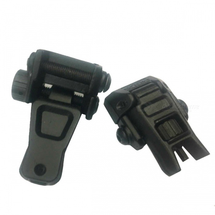ACCU Aluminum Alloy Tactical Folding Front + Rear Sights - Black(Pair)Gun Mounts/Rails<br>Form  ColorBlackMaterialAluminum alloyQuantity2 piecesGun TypeSuitable for 20mm rail gunRail Size20mmMount TypeWeaver,Pica-tinnyRing DiameterNOPacking List1 x Pair of sight<br>