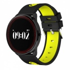Maikou CF007 Smart Bracelet w/ Heart Rate Monitor / Pedometer - Yellow
