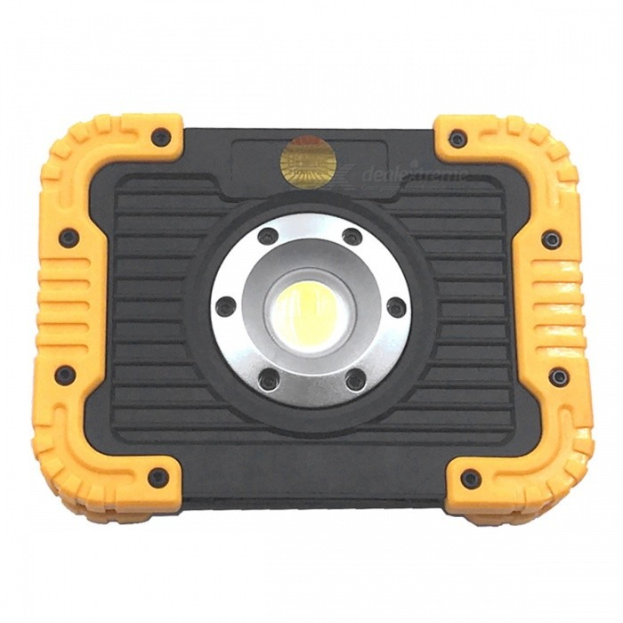 ZHAOYAO Mini 750LM 10W White Light COB 3-Mode Work Light - YellowOutdoor Lantern<br>Form  ColorBlack + Yellow + Multi-ColoredQuantity1 setMaterialNylon + TPREmitter BINLEDLED TypeOthers,COBNumber of Emitters1Color BINWhiteBattery TypeLi-ion batteryBattery Number0Battery included or notYesNumber of Modes3Runtime2-6 hoursActual Lumens750 lumensLantern TypeElectricBest UseFamily &amp; car camping,Backpacking,Camping,Mountaineering,Travel,FishingPacking List1 x Work ligh1 x Charging line<br>