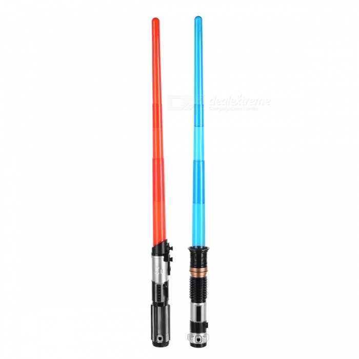 Double Light Saber Toy Sword for Boys, Christmas GiftsOther Toys<br>Form  ColorBlackMaterialPlasticQuantity1 DX.PCM.Model.AttributeModel.UnitSuitable Age 5-7 years,8-11 yearsForm  ColorBlackPacking List2 x Lightsaber Toys1 x Connector<br>
