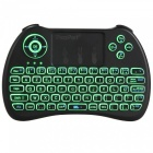 iPazzPort Mini French Brief Wireless Keyboard mit Tri-Color-Hintergrundbeleuchtung