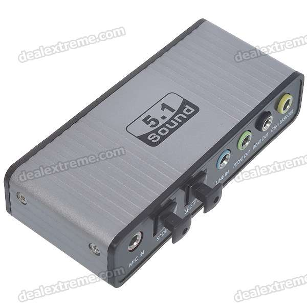 External 5.1 Channel USB 2.0 Optical Fiber Sound Card Audio Adapter