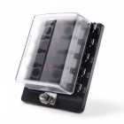 Jtron 10-Way DC12~32V Blade Fuse Box Holder with LED Warning Light Kit
