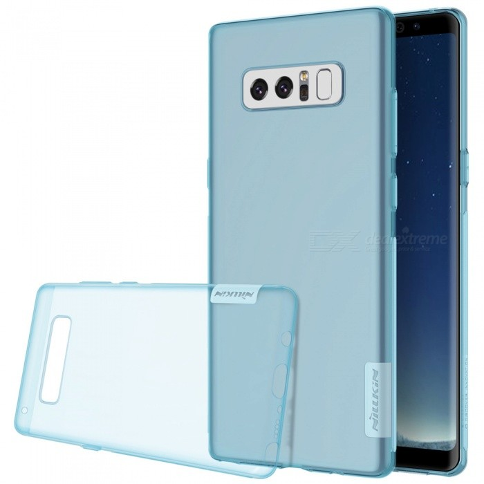 Nillkin Soft TPU Protectiv Cover Case for Samsung Galaxy Note 8 - BlueTPU Cases<br>Form  ColorTranslucent BlueModelNSXNOT8BS04MaterialTPUQuantity1 pieceShade Of ColorBlueCompatible ModelsGalaxy Note 8Packing List1 x Nillkin Nature TPU Case<br>