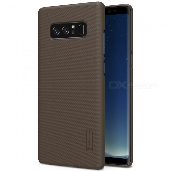 NILLKIN PC Hard Plastic Cover Case for Samsung Galaxy Note 8 - BrownPlastic Cases<br>Form  ColorDark BrownModelNSXNOT8HD02MaterialPlasticQuantity1 piecesShade Of ColorBrownFeaturesAnti-slip,Shock-proof,Abrasion resistanceCompatible ModelsSamsung Galaxy Note 8Packing List1 x NILLKIN Super Frosted Shield1 x Screen Protector<br>