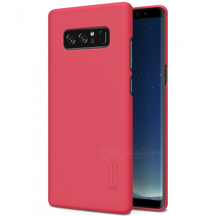 NILLKIN PC Hard Plastic Cover Case for Samsung Galaxy Note 8 - RedPlastic Cases<br>Form  ColorRedModelNSXNOT8HD03MaterialPlasticQuantity1 piecesShade Of ColorRedFeaturesAnti-slip,Shock-proof,Abrasion resistanceCompatible ModelsSamsung Galaxy Note 8Packing List1 x NILLKIN Super Frosted Shield1 x Screen Protector<br>
