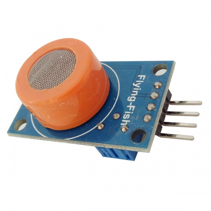 MQ-3 Alcohol Ethanol Sensor ModuleSensors<br>Form  ColorBlue + OrangeModelMQ-3Quantity1 pieceMaterialPCE-AApplicationCar alcohol gas alarm and portable alcohol gas detectorWorking Voltage   2.5V ~ 5.0V VDownload Link   ONPacking List1 x Alcohol gas detector module<br>