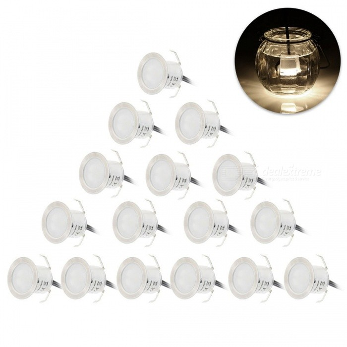 YWXLight 12W White LED Deck Light Waterproof Lamp - 16PCS/EU PlugStreet Lights<br>Form  Color EU Plug Color BINNeutral WhiteMaterialStainless steel &amp; PC fire-proof materialQuantity1 DX.PCM.Model.AttributeModel.UnitWater-proofIP67Life Span&gt;30000 DX.PCM.Model.AttributeModel.UnitPowerOthers,12WRated VoltageOthers,AC 95-265 DX.PCM.Model.AttributeModel.UnitConnector TypeOthers,EU PlugEmitter TypeOthers,2835 SMD LEDTotal Emitters16Theoretical Lumens1200-1300 DX.PCM.Model.AttributeModel.UnitActual Lumens1100-1200 DX.PCM.Model.AttributeModel.UnitColor Temperature4200KDimmableNoBeam Angle180 DX.PCM.Model.AttributeModel.UnitPacking List16 x YWXLight Deck Lights1 x Power Adapter<br>