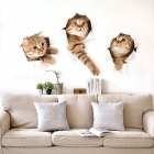 Removable DIY Cute Kitten Decorated Wall Sticker