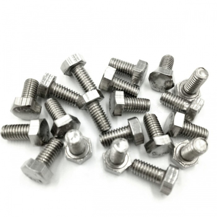 ZHAOYAO M4 304 Stainless Steel Outer-Hexagonal Bolt Screw (20 PCS)DIY Parts &amp; Components<br>Form  ColorWhite SilverQuantity20 DX.PCM.Model.AttributeModel.UnitMaterialStainless steelEnglish Manual / SpecNoCertificationNoPacking List20 x Stainless steel screws<br>