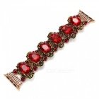 Vintage Style Wristband for iWatch - Red Agate (38cm)