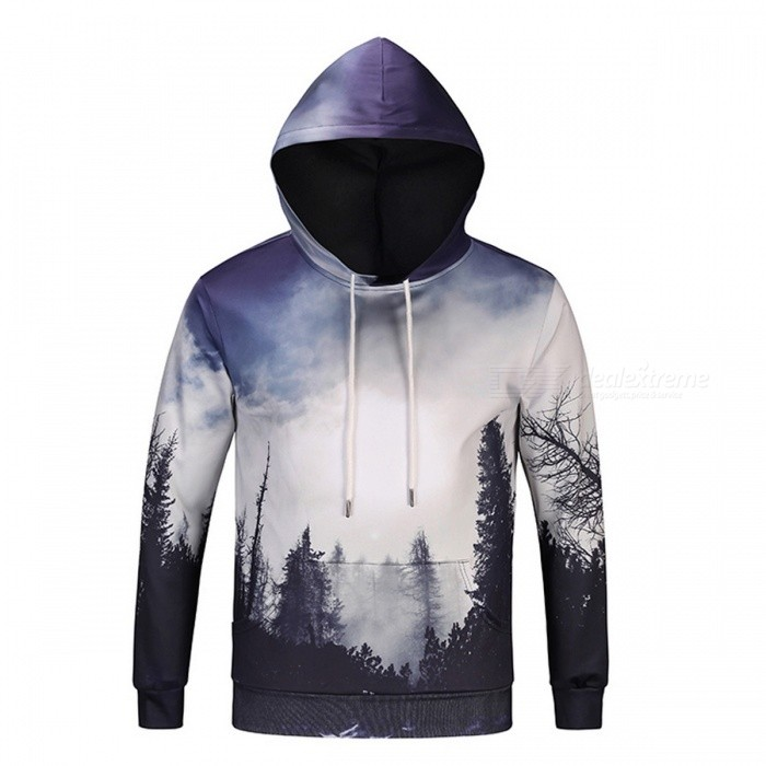 Tree 3D Unisex Sweatshirt Hoodies with Hat - Grey (XXL)Hoodies &amp; Sweatshirts<br>Form  ColorTree 3DSizeXXLModelDM114Quantity1 DX.PCM.Model.AttributeModel.UnitShade Of ColorGrayMaterialPolyester, SpandexPatternTree 3DStyleSportsShoulder Width48 DX.PCM.Model.AttributeModel.UnitChest Girth112 DX.PCM.Model.AttributeModel.UnitWaist Girth112 DX.PCM.Model.AttributeModel.UnitSleeve Length63 DX.PCM.Model.AttributeModel.UnitTotal Length71 DX.PCM.Model.AttributeModel.UnitSuitable for Height175-180 DX.PCM.Model.AttributeModel.UnitPacking List1 x Sweatshirt<br>