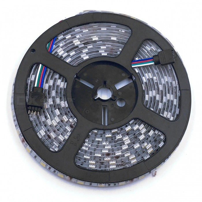 ZHAOYAO Waterproof 72W DC 12V Warm White to Cold White LED StripOther SMD Strips<br>Form  Color  Black + grey + multicolor-USColor BINOthersModel5025-3-USMaterialCircuit boardQuantity1 DX.PCM.Model.AttributeModel.UnitPower72WRated VoltageDC 12 DX.PCM.Model.AttributeModel.UnitEmitter TypeLEDTotal Emitters300Color Temperature2800-7000KWavelength0Theoretical Lumens7200 DX.PCM.Model.AttributeModel.UnitActual Lumens20-6000 DX.PCM.Model.AttributeModel.UnitPower AdapterUS PlugPacking List1 x LED strip1 x Controller1 x US Power Adapter<br>