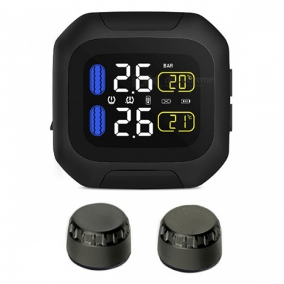 90SMART Wireless Motorcycle TPMS Banddruk Monitoring System