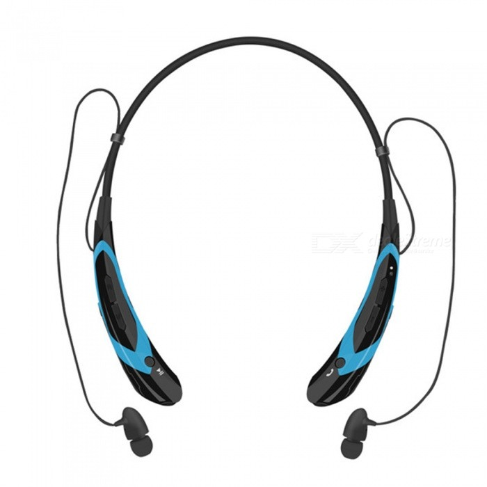 Running Sports Bluetooth Wireless Headset Headphones - BlueHeadphones<br>Form  ColorBlack + BlueBrandOthers,HVModelHV-760MaterialABSQuantity1 DX.PCM.Model.AttributeModel.UnitConnectionBluetoothBluetooth VersionBluetooth V4.0Operating Range10mConnects Two Phones SimultaneouslyYesHeadphone StyleBilateralWaterproof LevelIPX3Applicable ProductsOthers,currencyHeadphone FeaturesPhone Control,Long Time Standby,Noise-Canceling,Volume ControlRadio TunerNoSupport Memory CardNoSupport Apt-XYesStandby Time120 DX.PCM.Model.AttributeModel.UnitTalk Time5-8 DX.PCM.Model.AttributeModel.UnitMusic Play Time5-8 DX.PCM.Model.AttributeModel.UnitPacking List1 x Bluetooth headset1 x Manual1 x Charging cable2 x Ear caps<br>