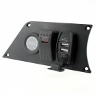 IZTOSS Switch Panel w/ Voltmeter + USB Car Charger for Race Car Refit