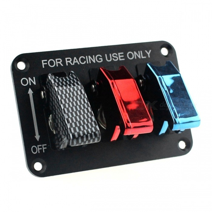 IZTOSS S2686 12V Switch Panel for Racing UseCar Switches<br>Form  ColorBlack + Red + Multi-ColoredModelS2686Quantity1 setMaterialAbs UV - resistant materialIndicator LightYesRate Voltage12vRated Current20 APacking List1 x Switch panel<br>