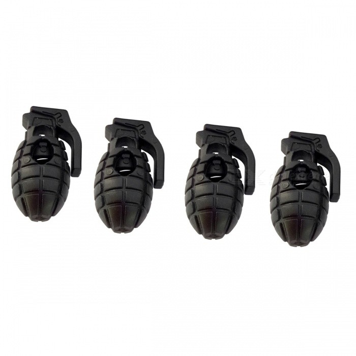 Portable Outdoor Grenade Type Hiking Boots Anti-slip Buckle (4 PCS)Other Sports Gadgets<br>Form  ColorBlackQuantity1 DX.PCM.Model.AttributeModel.UnitMaterialPlasticPacking List4 x Anti-slip buckles<br>