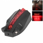 5-LED 2-Laser Bicycle Logo Intelligent Cool Safety Rear Tail Light