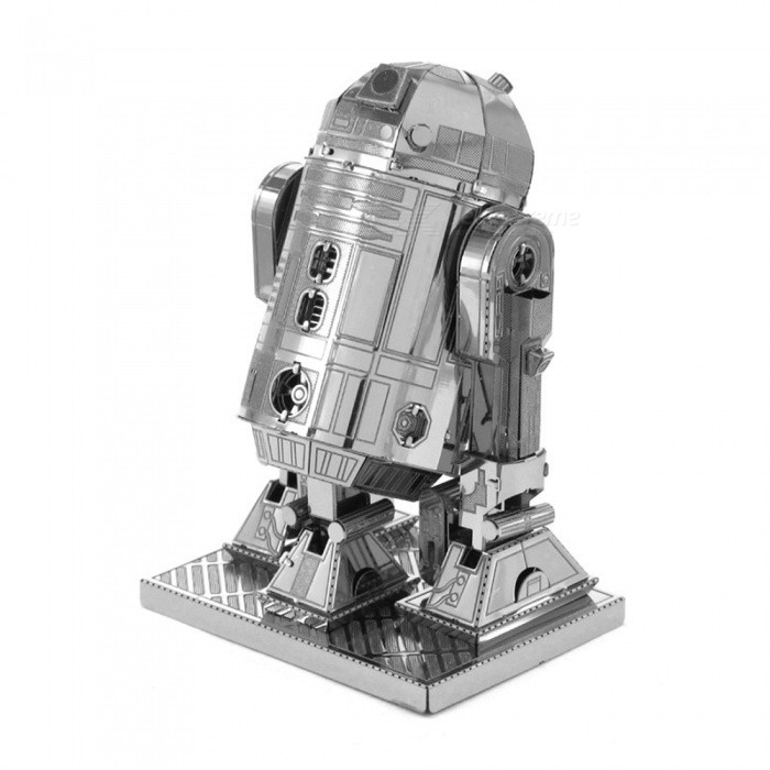 DIY Jigsaw Puzzle 3D Metal Star Wars Robot Assembly Model ToyBlocks &amp; Jigsaw Toys<br>Form  ColorSilverMaterialStainless steelQuantity1 DX.PCM.Model.AttributeModel.UnitNumber2Size4.5cm*3.5cm*7cmSuitable Age 8-11 years,12-15 years,Grown upsPacking List2 x Model boards<br>