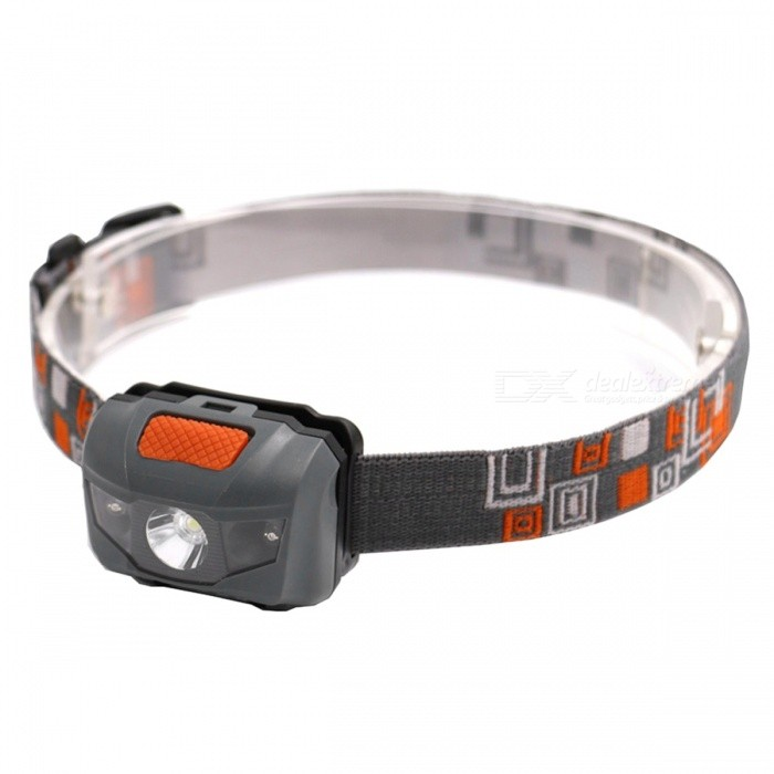 ZHAOYAO Waterproof Outdoor Multi-function 4-Mode Headlight - GreyHeadlamps<br>Form  ColorGrey + Black + Multi-ColoredModel3xAAAQuantity1 setMaterialPlasticEmitter BrandLuminusLED TypeOthers,LEDEmitter BINothers,LEDColor BINOthers,White + RedNumber of Emitters3Working Voltage   4.5 VPower SupplyAAACurrent0.5 AActual Lumens100-450 lumensRuntimeDepends on the battery quantities hourNumber of Modes4Mode ArrangementHi,Mid,Low,Fast StrobeMode MemoryNoSwitch TypeForward clickySwitch LocationHeadLensPlasticReflectorAluminum SmoothBand Length20 cmCompatible Circumference40-80cmBeam Range50-250 mPacking List1 x Head lamp<br>