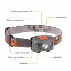 ZHAOYAO Waterproof Outdoor Multi-function 4-Mode Headlight - Grey