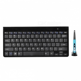BLCR 2.4G Wireless Keyboard with Touch Pen Mouse Set - Black + Blue
