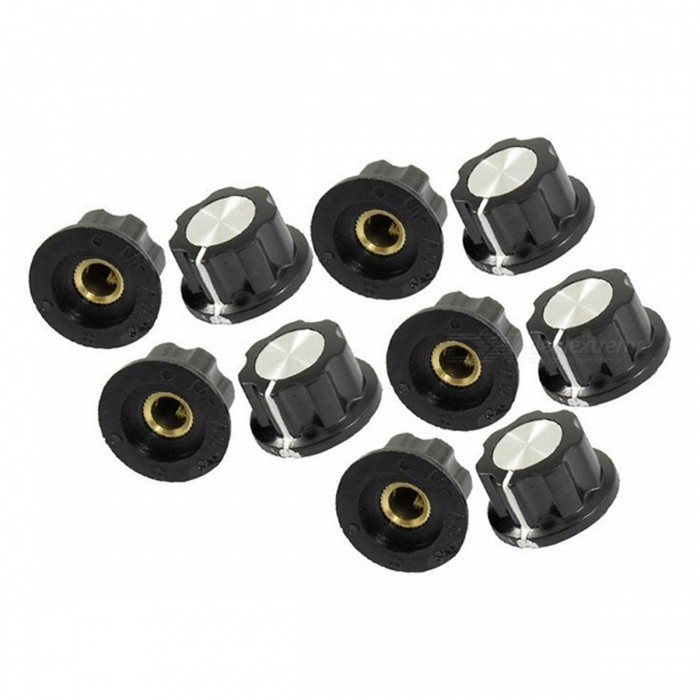 ZHAOYAO 15mm Top 6mm Shaft Insert Potentiometer Rotary Knobs (10 PCS)