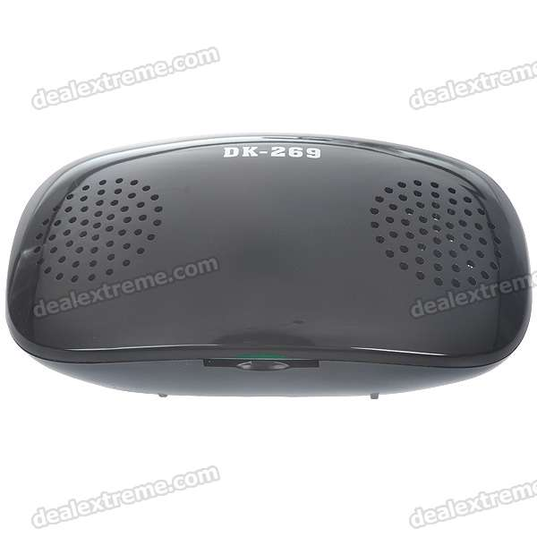 Portable Rechargeable Battery Power MP3 Music Speaker with SD Card Slot (Black)