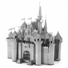 DIY Jigsaw 3D Metal Castle Assembly Model Puzzle Toy - Silver