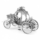 DIY Puzzle 3D Pumpkin Car Assembly Model Educational Toy - Silver