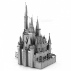 DIY 3D Cinderella Castle Assembly Model Puzzle Toy - Silver