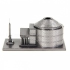 DIY 3D Roman Pantheon Assembly Model Puzzle Toy - Silver