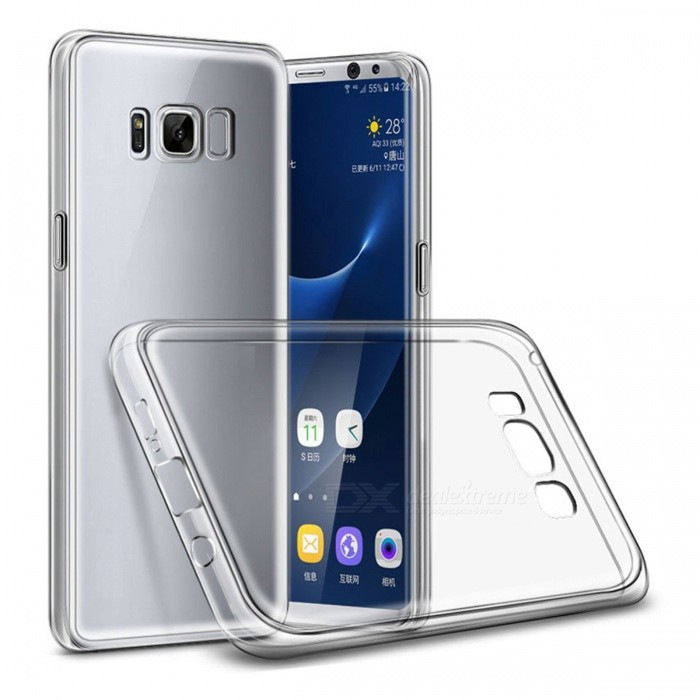 Naxtop TPU Ultra-thin Soft Case for Samsung Galaxy S8 PlusTPU Cases<br>Form  ColorTransparentModelN/AQuantity1 DX.PCM.Model.AttributeModel.UnitMaterialTPUShade Of ColorTransparentCompatible ModelsSamsung Galaxy S8 PlusDesignSolid ColorStyleBack CasesPacking List1 x Case<br>