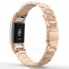 Miimall Stainless Steel Watch Band for Fitbit Charge 2 - Rose Gold