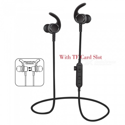 Noise Cancelling Bluetooth Wireless Sports Headset with TF Slot -Black