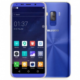 "Bluboo S8 5.7"" Dual Rear Cameras Android 7.0 Phone w/ 3GB, 32GB - Blue"