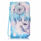 Coloured Drawing Flip-Open PU Leather Case for IPHONE 7 8 - Light Blue