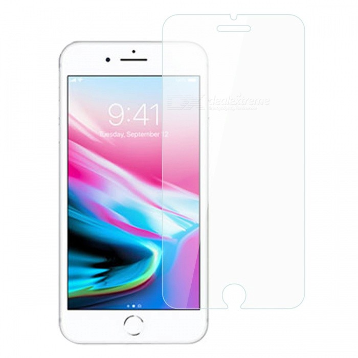 Dayspirit Tempered Glass Screen Protector for IPHONE 7, 8Screen Protectors<br>Form  ColorTransparentScreen TypeGlossyModelN/AMaterialTempered glassQuantity1 pieceCompatible ModelsIPHONE 7, 8FeaturesTempered glassPacking List1 x Tempered glass screen protector1 x Dust cleaning film 1 x Alcohol prep pad<br>