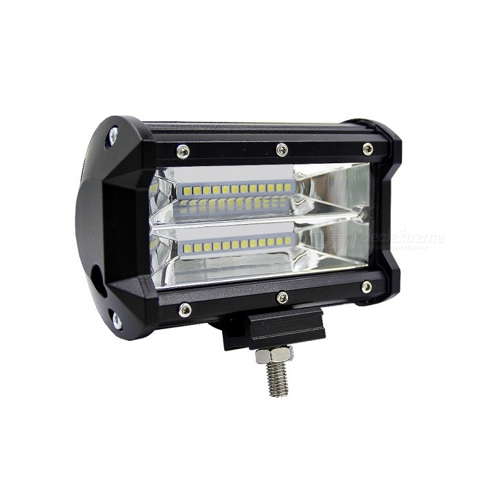 Joyshine 5inch 72W 6000K Cold White  IP67Two Rows LED Light BarOff-Road Lights<br>Color BINCold White (72W)ModelN/AQuantity1 pieceMaterialAviation aluminum shell, PC Lens, 304 stainless steel bracketForm  ColorBlackEmitter TypeLEDChip BrandOthers,PhilipsChip TypeCOBTotal EmittersOthers,24-LEDPowerOthers,72WColor Temperature6000 KActual Lumens10800 lumensRate VoltageDC10~48VWaterproof FunctionYesConnector TypeOthers,WireApplicationRoof lightCertificationCE &amp; RoHSPacking List1 x 72W Philips LED light bar1 x Mounting Accessory<br>