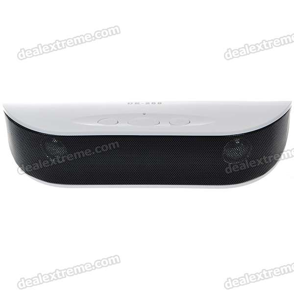 USB Rechargeable Portable MP3 Music Speaker with FM Radio+AUX+USB+SD/MMC - White (3.5mm Jack)