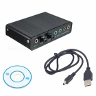 BSTUO External USB Channel 5.1 Optical Audio Sound Card Adapter -Black